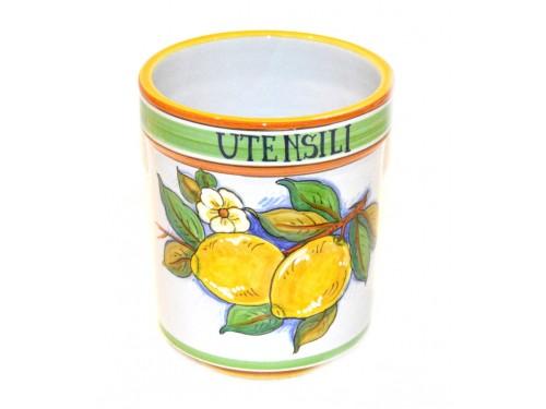 Utensil holder lemon 16 cm