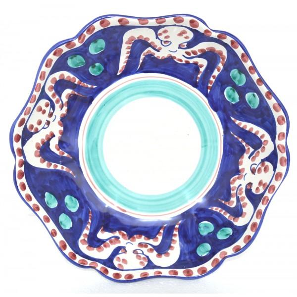 Serving Bowl Octopus Blue