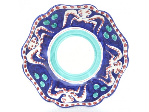 Serving Bowl Octopus Blue
