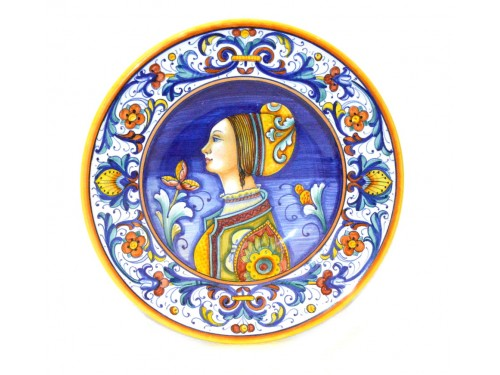 Wall Plate Elegant Woman 7,85 inches