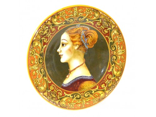 Special Plate Elegant Woman 13,75 inches Brown 1/1
