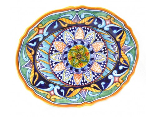 Oval Plate Geometric 16,50 inches (to hang and to use)