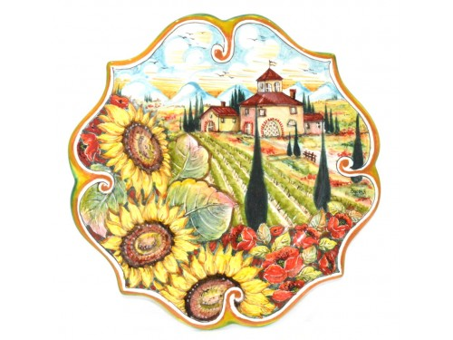 Wall Plate Boccia Sunflowers 11,80 inches