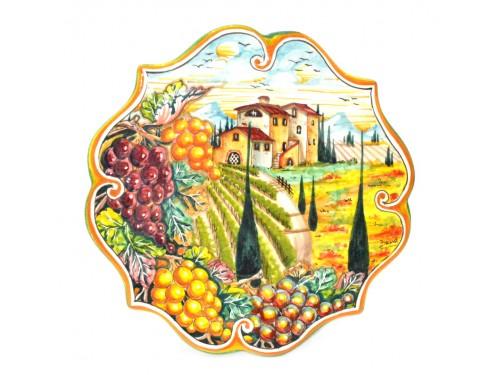Wall Plate Boccia Grapes 11,80 inches