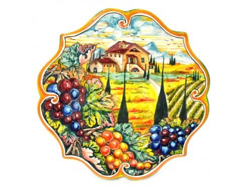 Wall Plate Boccia Grapes 11,80 inches blue