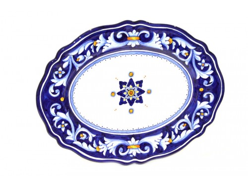 Oval Plate Ocean 14,95 inches (to hang and to use)
