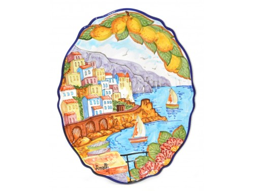 Oval Plate Amalfi 14,95 inches vertical