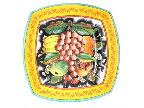Squared Plate Grapes 13,75 inches