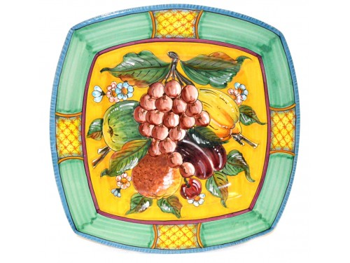 Squared Plate Grapes green 13,75 inches