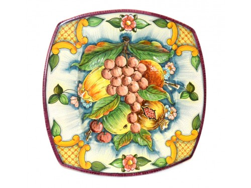 Squared Plate Grapes white 13,75 inches