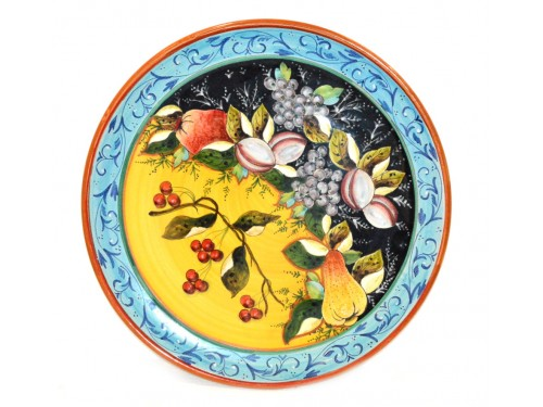 Wall Plate cherries 15,75 inches (UNIQUE PIECE)
