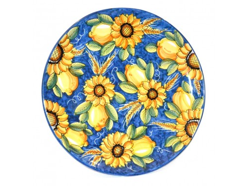 Wall Plate sunflowers 15,75 inches (UNIQUE PIECE)