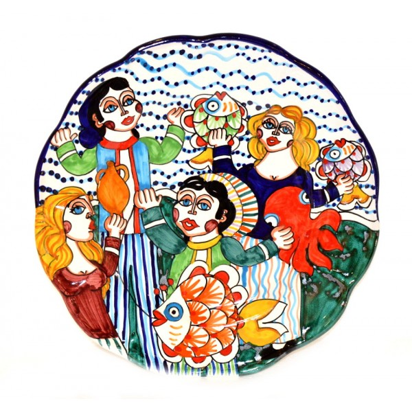 Wall Plate naif 5 (unique piece) 11,80 inches