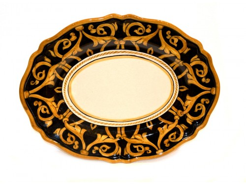 oval platter barocco black 14,95 inches (last piece)