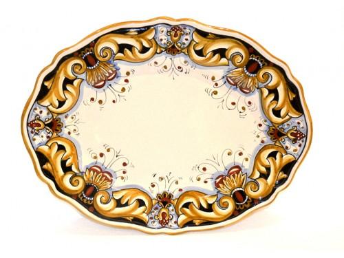 oval platter barocco black/cream 14,95 inches (last piece)
