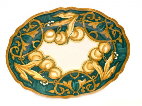 oval platter cherries green 14,95 inches (last piece)