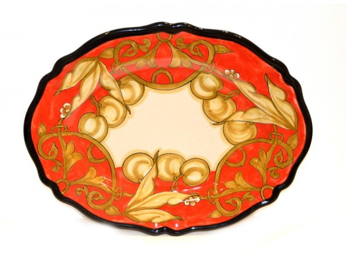 oval platter cherries red 14,95 inches (last piece)