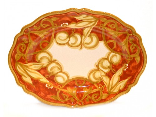 oval platter cherries brown 14,95 inches (last piece)