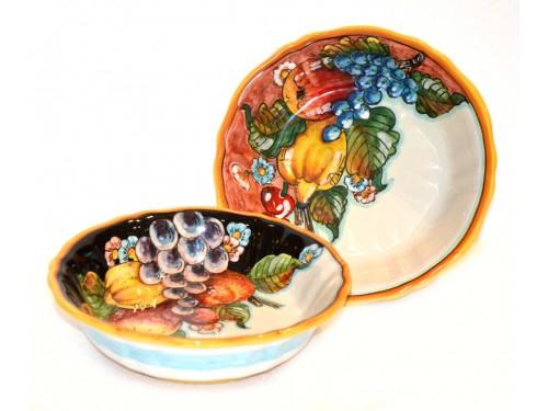 set 2 pasta bowls 8,65 inch fruits design (last set)