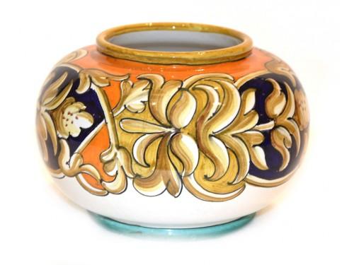 """Special vase """"brown/blue"""" 8,65x5,90 inch (unique piece)"""