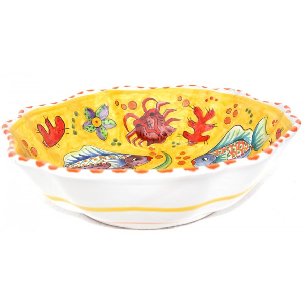 Scalopped Bowl Fishes yellow