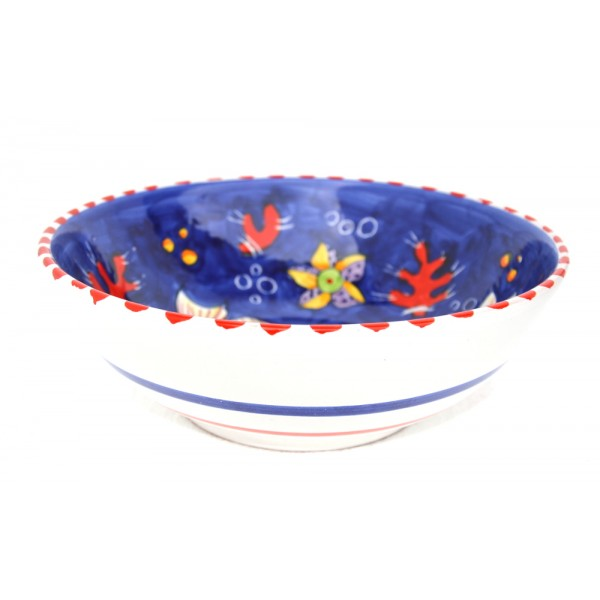 Round Bowl Fishes blue