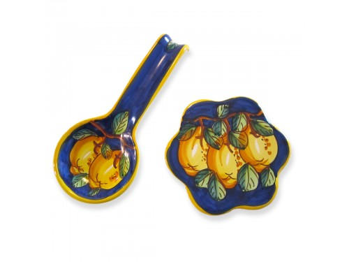 Spoon Rest + Trivet Lemon Blue