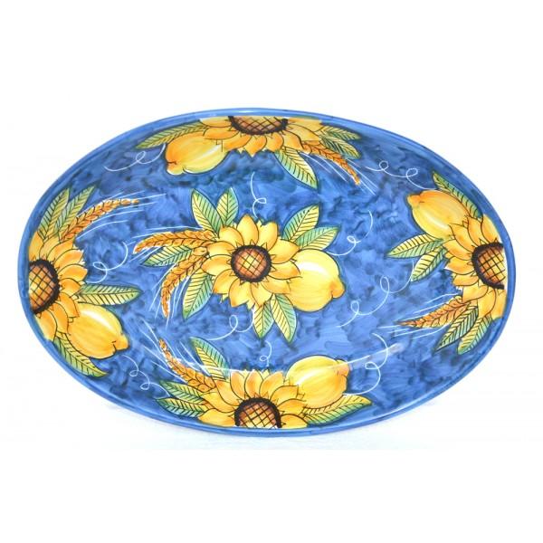 Oval Plate Sunflower