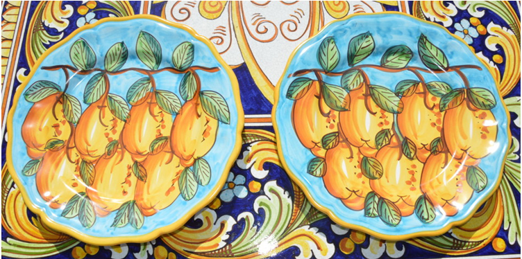 italian-ceramic-plate-lemon-design